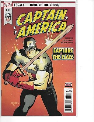 Captain America #696 Marvel Legacy Home of The Brave NM 2017