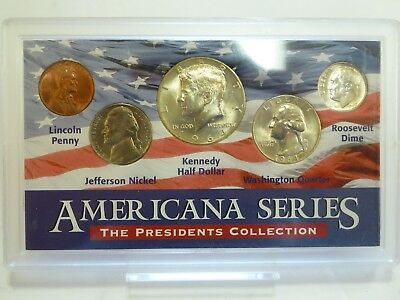Americana Series Collection Silver Kennedy Half Dollar,Quarter, Dime Coin Set(5)