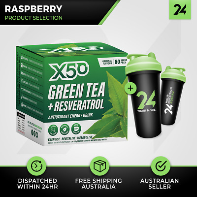 Tribeca Health X50 Green Tea | 60 Serves Raspberry | Fat Burning | Free Gift!