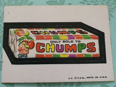 Wacky Packages Card Only Sold To Chumps 1970s VTG Tan Back