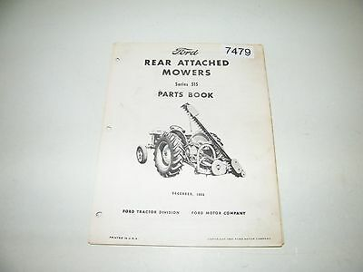Ford Rear Attached Mowers Series 515 Parts Catalog Dec 1966 PA-9027-A