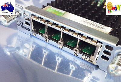 Genuine Cisco VIC3-4FXS/DID 4-port FXS Voice/Fax Card 1 Yr Wty., Tax Invoice