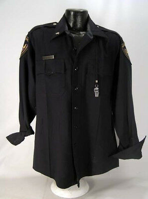Christian Slater's Personal Collection Worn Kuffs Police Officer Shirt W/COA