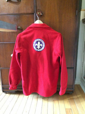 Vintage 1960s Boy Scout Red Wool Jacket, World Jamboree 1967 , Idaho, USA sz 18