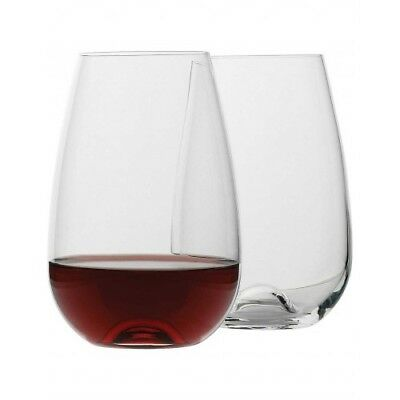 NEW Ecology Stemless Red Wine Glass Set of 4, 660ml. Special Price!