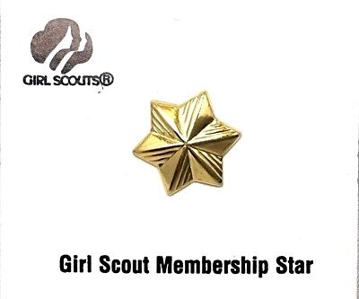 Girl Scout Membership Star Pin - Uniform Pin - New With Card