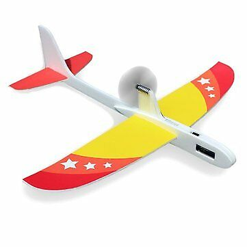 Upgraded Super Capacitor Electric Hand Throwing Free-flying Glider DIY Airplane