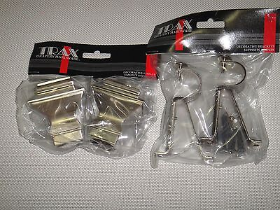 METAL  FINIALS AND BRACKETS SET FITS FOR 1 1/8 [28 mm] DIAM. ROD