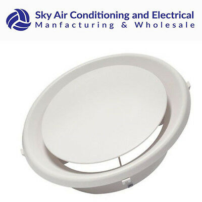 """ABS Round Diffuser 6"""" 8"""" 10"""" 12"""" Neck Outlet Vent Grill Air Conditioner"""