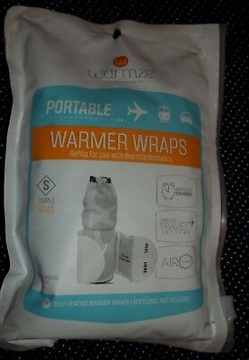 WARMZE Pack of 4 REFILL SELF HEATING WRAPS Fits 4-6 oz Bottles