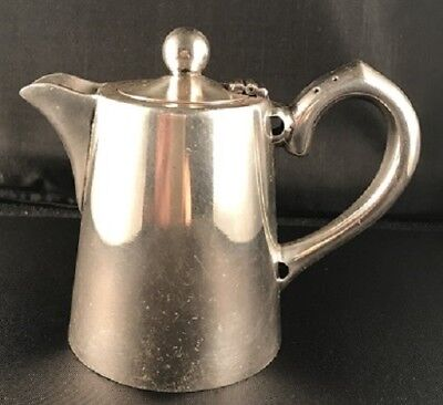 Art Deco silverplate cafe hot water pot 1/2 pint - FREE POSTAGE
