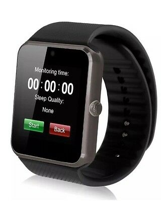 Negro 3.9cm GT08 Pantalla Táctil Bluetooth Smartwatch phonefor Android IOS