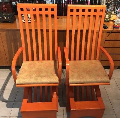 Antique vintage  Asian Style Wooden Chairs STATEMENT PIECES