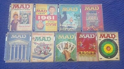 Mad LOT of 9 Magazine 60-71