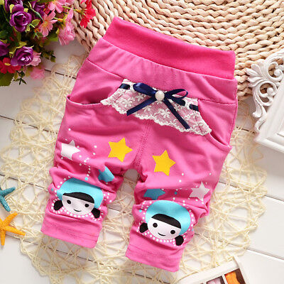 Infant Baby Girls Clothing Casual Summer Pants Printed Girl Cute Cotton Trousers