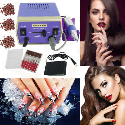 Professional Electric Nail File Acrylic Manicure Drill Sand Machine Kit 110V OY