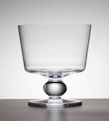 Krosno Footed Glass Trifle Bowl Salad Fruit Serving Dish 15 CM NEW IN BOX