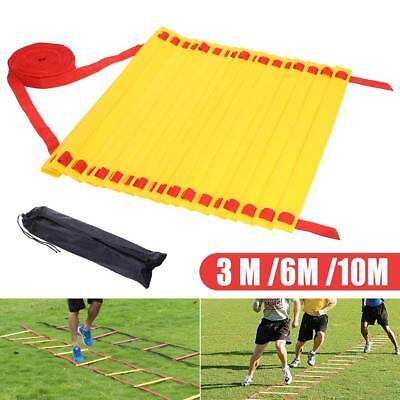 20/12 Rungs Soccer Training Agile Speed Ladder Football Pace Exercise Fitness AU