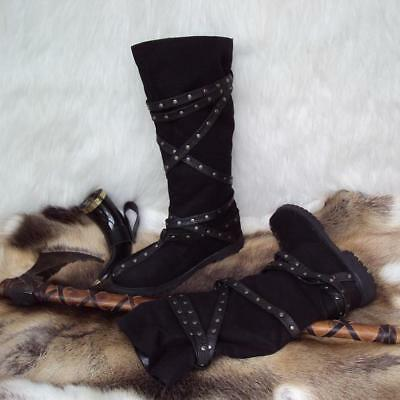 Medieval / Viking Calf High Warrior Boots Ideal for LARP