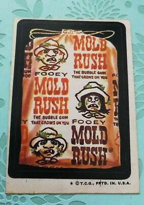 Wacky Packages Card Mold Rush Candy 1970s VTG Tan Back Topps