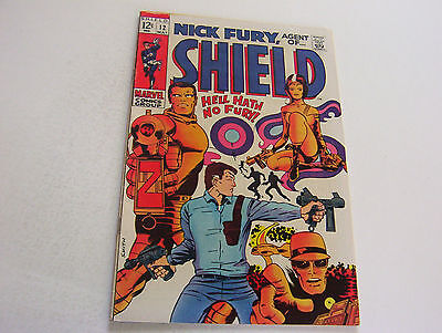 Nick Fury, Agent Of Shield Comic #12  May 1969  Silky Smooth Cover  Very Fine-