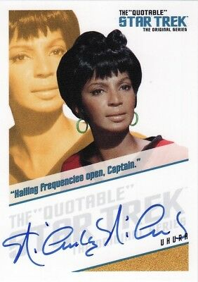 Star Trek ToS Quotable Nichelle Nichols as Uhura QA5 Auto Card