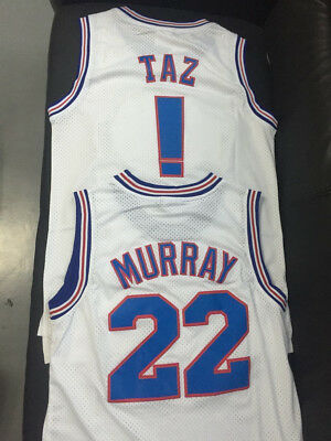 Tune Squad Space Jam Basketball Jersey Taz Murray 22 White S-3XL