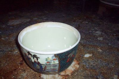 OLD Japanese ROYAL Satsuma High Relief  bowl Hand Painted NO RESERVE