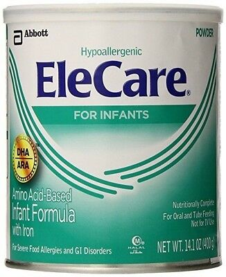 EleCare For Infants Hypoallergenic With Iron Infant Formula 8 Cans 14.1oz a Can