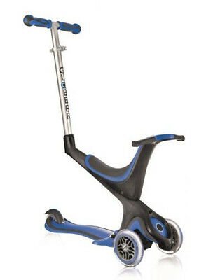 GLOBBER 5-in-1 EVO SCOOTER Adjustable Convertible TRIKE Blue MyFREE SHIPPING