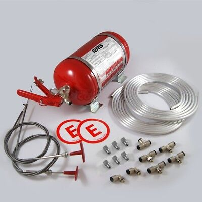 RRS FIA Mechanical 4.25 LTR & 2 LTR H/H Fire Extinguisher Kit Race/Racing/Rally