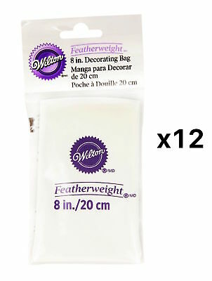 Wilton 8 Inch Featherweight Cake Decorating Icing Frosting Piping Bag (12-Pack)