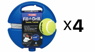 Tourna Fill n Drill Trainer Youth Tennis Practice Kids Aid Youth Tool (4-Pack)