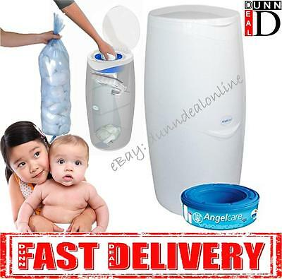 Angelcare Baby Nappy Diaper Disposal System Bin + 1 Free Refill Cassette  NEW!