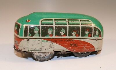 Tin Toy Bus aus Blech Made in Western Germany