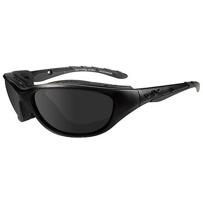 Wiley X Airrage Glasses Black Ops Police Smoke Grey UV Lens Matte Black Frame