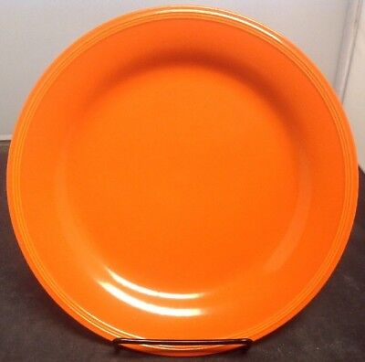 "Edwin Knowles Semi Vireous 9.25"" TOTALLY ORANGE Dinner Plate"