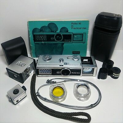 "Rollei 16S 16mm Subminiature ""Kolchak Camera Case Chain Filter Flash Tripod Head"