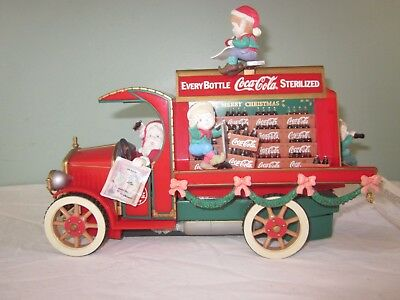 1993 Christmas Santa Coca Cola Musical Illuminated Action Delivery Truck