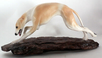 "Whippet / Greyhound 12"" Limited Edition Figurine by Sandi Rolfe 1984 #33 of 250"