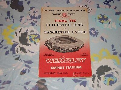 1963 FA CUP CENTENARY FINAL PROGRAMME - LEICESTER CITY v MANCHESTER UNITED