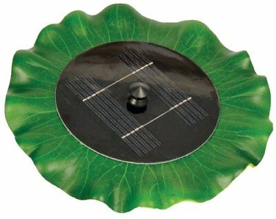 "Solar Floating Water Lily Pad Fountain 11"" Diameter, Pool or Koi Pond Decoration"