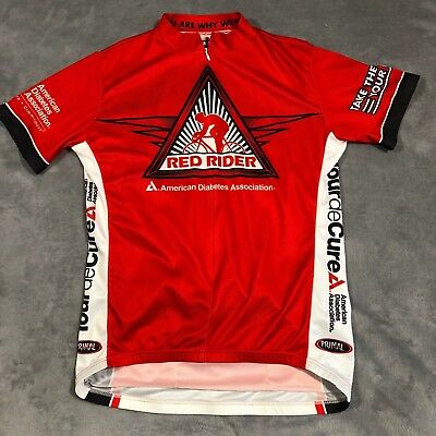 Primal Wear Mens Cycling Jersey Sz Large Red Rider American Diabetes  Association e601af1a3