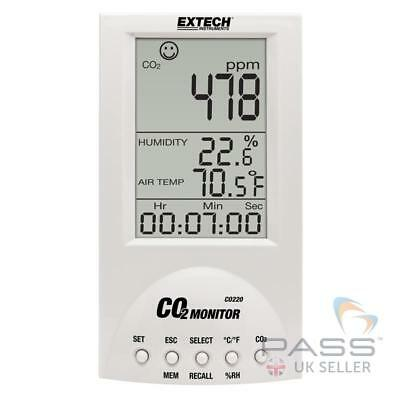 *NEW* Extech CO220 Desktop Indoor Air Quality CO2 Monitor / UK Stock