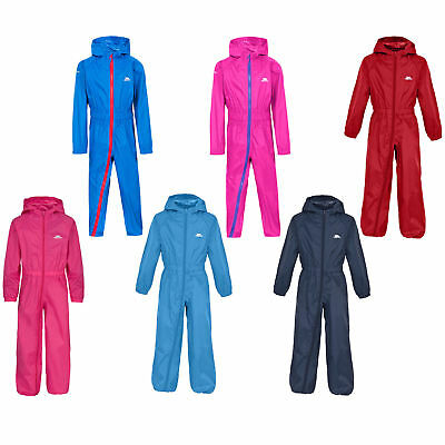 Trespass Button Boys / Girls Waterproof Rainsuit All In One Suit Kids