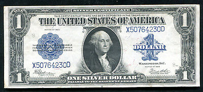 """Fr. 237 1923 $1 One Dollar """"Horseblanket"""" Silver Certificate About Unc (C)"""