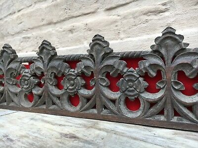 A Stunning Gothic Church Tracery Carved in wood circa 1880 (2)