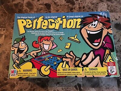 Perfection Board Game Milton Bradley Complete Box Works