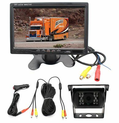 For RV Truck Bus Van Rear View Back up Camera Night Vision System 7 inch Monitor