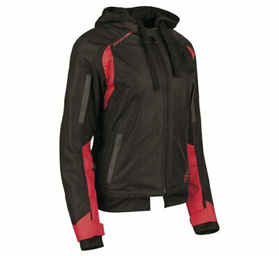 Speed & Strength Women's Spell Bound Textile Jacket Size XS Red/Black